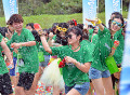 Japan Water Run in Japan July 23  2016  Chiba  Japan - Japanese youths enjoy battle with water balloons at the Water Run at a beach in Chiba  suburb Tokyo on Saturday  July 23  2016. Some 10 000 people enjoyed the the two-day event with water guns and a total of 300 000 water balloons.      Photo by Yoshio Tsunoda/AFLO  LWX -ytd-