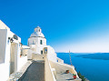 Alley With White Walls On A Greek Island