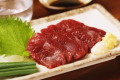 Japanese style raw horse meat