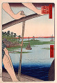 Utagawa Hiroshige  One Hundred Famous Views of Edo  The Benten Shrine and the Ferry at Haneda