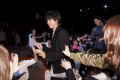 Wolf Girl and Black Prince Stage Greeting Japanese actor Kento Yamazaki greets fans during the stage greeting for the movie Wolf Girl and Black Prince at Tokyo International Forum on April 27  2016  Tokyo  Japan. The film is based on the Japanese manga series written by Ayuko Hatta which has already been adopted into a drama and TV anime. It will hit theatres across Japan on May 28.  Photo by Rodrigo Reyes Marin/AFLO