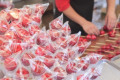 Apple candies at traditional Japanese festival