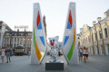The 27th Summer Universiade 2013 General view  JULY 4  2013 - : View of the emblem of 27th Summer Universiade 2013 in Kazan city  Russia.  Photo by Yusuke Nakanishi/AFLO SPORT