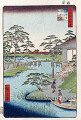 Utagawa Hiroshige  One Hundred Famous Views of Edo  Mokubo Temple and Vegetable Fields by the Uchi River