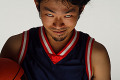 Asian Basketball Player Making a Scary Face