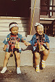 Twin brothers in Japanese costume