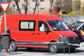 Virus Outbreak Spain A military emergency unit vehicle that has carried its body into the temporary morgue of Palacio de Hielo and picked up the next one due to the emergency declaration due to the Corona Virus  COVID-19  outbreak in Madrid  Spain  MARCH 26  2020.  Photo by Mutsu Kawamori/AFLO