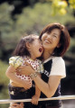 Japanese mother and daughter at the park