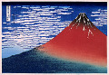 South Wind  Clear Sky  Also Known As Red Fuji   Thirty-Six Views Of Mt. Fuji  Hokusai