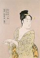 Fujin sougaku juttai  Ten Studies in Female Physiognomy  Kitagawa Utamaro  Japanese Wood Block Print