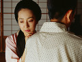 Traditional Japanese couple  woman in tears
