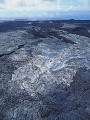 Aerial view of volcanic landscape  Big Island  Hawaii