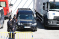 Virus Outbreak Spain A hearse departing from Palacio de Hielo  a temporary morgue  to pick up the next body due to the emergency declaration due to the Corona Virus  COVID-19  outbreak in Madrid  Spain  MARCH 26  2020.  Photo by Mutsu Kawamori/AFLO