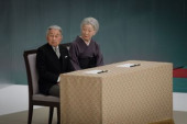 Japan holds annual official service for war victims on 72nd anniversary of the end of World War II August 15 2017 Emperor Akihito and Empress Michik