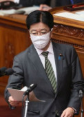 Prime Minister Shinzo Abe delivers a speech at Lower House s plenary session at the National Diet April 2 2020 Tokyo Japan  Japanese Health