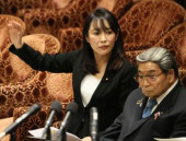 Traditional Kyoto February 20 2020 Tokyo Japan  JapaneseJustice Minister Masako Mori answers a question by an opposition lawmaker at Lower House r
