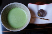 Traditional Kyoto Matcha green tea and Japanese traditional sweet or wagashi are pictured June 6 2019 in Kyoto Japan  Photo by Yuriko NakaoAFLO