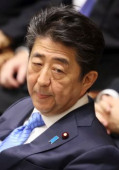 Japanese Prime Minister Shinzo Abe attends Lower Hoise s budget committee session January 27 2020 Tokyo Japan  Japanese Prime Minister Shinz