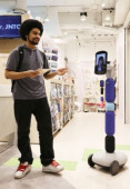 Japan National Tourists Organization demonstrates an avatar robot to guide foreign tourists February 26 2020 Tokyo Japan  All Nippon Airways ANA