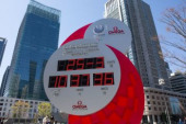 Tokyo Olympics postponed due to coronavirus pandemic A countdown clock for the Tokyo 2020 Olympics shows today s date and time instead of the co