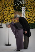 Japan holds annual official service for war victims on 72nd anniversary of the end of World War II August 15 2017 Emperor Akihito and Empress Michi