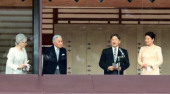 Japan s emperor offers New Year greeting January 2 2020 Tokyo Japan  Japanese Emperor Naruhito 2nd R delivers a speech while Empress Masak