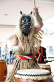 Namahage event at Hakkeijima Sea Paradise January 12 2019 Yokohama Japan  A demon masked man called Namahage from Akita prefecture northern Japan