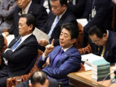 Prime Minister Shinzo Abe attends Lower House s budget committee session February 5 2020 Tokyo Japan  Japanese Prime Minister Shinzo Abe lis