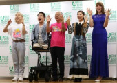 The Nippon Foundation announces True Colors Festival in Tokyo August 23 2019 Tokyo Japan  L R Japanese TV personality Ryuchell handicapped au