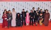 Tokyo International Film Festival 2019 Casts of film Reiwa Uprising attend the opening ceremony of Tokyo International Film Festival 2019 at Roppong