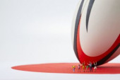 Miniatures and rugby ball