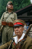 72nd Anniversary of Japan s Surrender in WWII at Yasukuni Shrine Men dressed as a Japanese imperial army soldiers visit Yasukuni Shrine to pay t