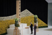 Japan holds annual official service for war victims on 72nd anniversary of the end of World War II August 15 2017 Emperor Akihito with Empress Mich